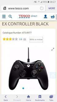 Power A black wired xbox controller £19.99 @ tesco direct