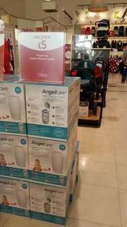 Angelcare Nappy Disposal System + 1 cassette included +  Free 1 year guarantee - £5 instore and online @ Mothercare