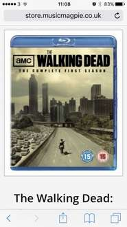 Walking dead blu ray season 1 NEW £4.89 musicmagpie