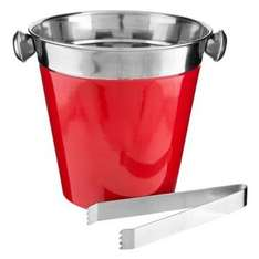 Stainless Steel Red Ice Bucket £0.25 @ Poundland