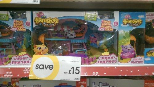 Hamsters in a house Super Market - £7.50 @ Wilko instore