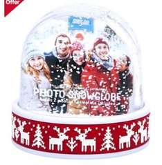 Photo snowglobe reindeer/snowflake/polar bear £2.50 each with free C&C at boots