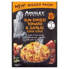 Ainsley Harriott Cous Cous 125g was 95p now 50p @ Tesco instore / online