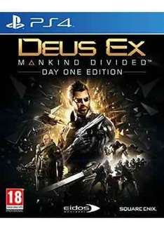 Deus ex mankind divided day 1 edition (PS4/XB1) £14.85 @ base