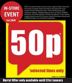 "Poundland ""Core Range"" 50p Event In Store (Their January Sale?) 50p @ Poundland"