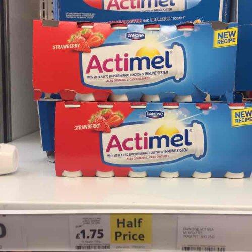 Danone  actimel  12X100g £1.75 down from £3.50 Tesco
