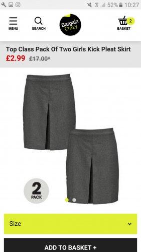 School uniform twin packs starting from £2.99 @ Bargain Crazy