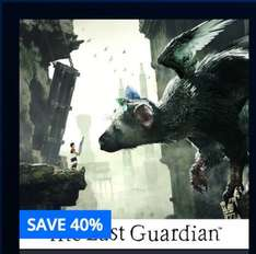 [PS4 - digital version] The Last Guardian 40% off @ PSN - £29.99 (£26.59 using CDKeys)