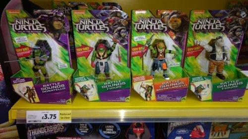 TMNT Turtles for £3.75! The plastic ninja variety @ Tesco instore