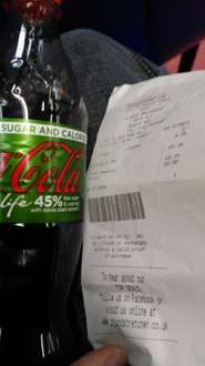 coke life 500ml 25p @ poundstretcher