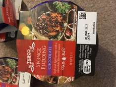 Chocolate sponge pudding - 25p each at tesco Andover