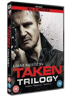 Taken/Taken 2/Taken 3 DVD Boxset £5 with free delivery @ Tesco or DVD £4.99, Blu-Ray £8.98 @ Amazon but only free delivery for Prime Members