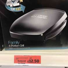 George Foreman Family 4 Portion Grill - Sainsbury's Instore - £12.50
