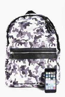 Camo Backpack BooHoo £6 free delivery