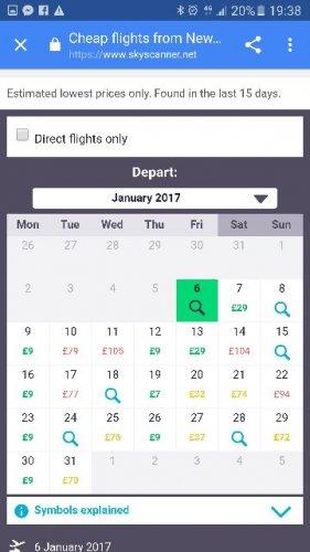 Newcastle to Malaga flights  £8 (+£8 return!) via Skyscanner