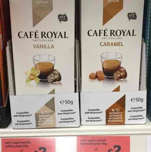 Nespresso compatible pods Cafe Royal £2 - Sainsbury's National