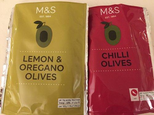 M&S Windsor Lemon Oregano / Chilli Olives reduced to 10p per packet