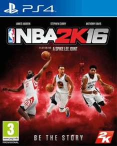 NBA 2K16 PS4 New £9.99 @ Game