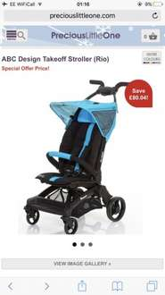 ABC TAKEOFF light weight ultra small stroller £79.95 possible 5% off at precious little one