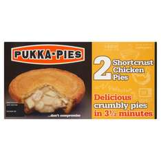Pukka pies 3 1/2 minutes chicken pies 2pk for 99p instore @ Farmfoods