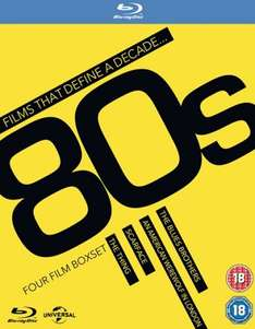 Films That Define a Decade: '80s (Box Set) [Blu-ray] use code Signup10 £8.18 @ Zoom