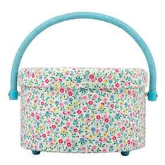 Cath KIdston trailing daisy round sewing box, was £32 now £12 - Free c&c