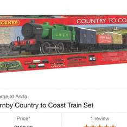 hornby Country to Coast Train Set £30 - Asda in store Farnborough