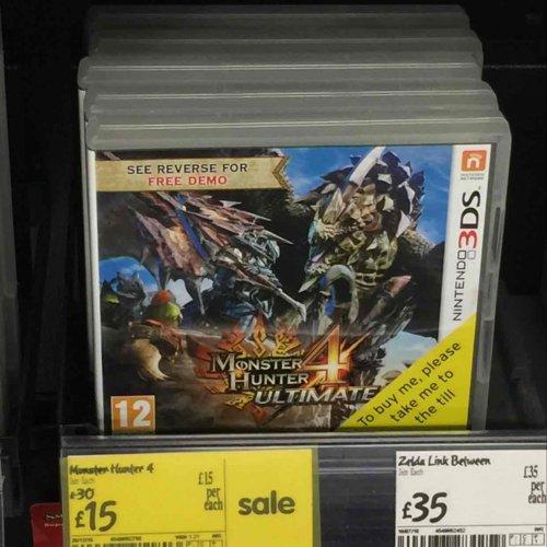 monster hunter 4 ultimate (3DS) £15 @ ASDA instore