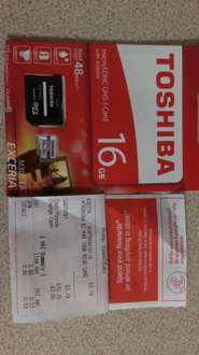 Toshiba 16gb micro sdhc card and adaptor £3.19 @ Staples