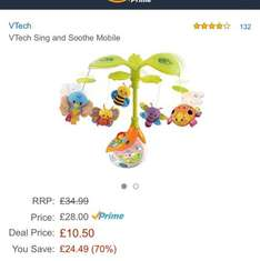 Vtech baby mobile £10.50 @ Amazon - Lightning Deal (Prime Exclusive)