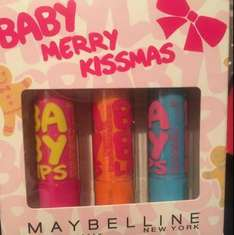 Co-op Maybelline- Baby Lips, Merry Kissmas set £1.50 instore @ Co-Op