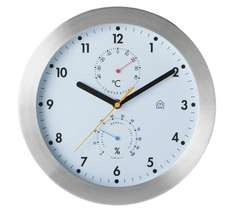 Habitat 30cm white faced weather clock with stainless steel frame for £14.99 down from £30.00 @ Argos & Habitat