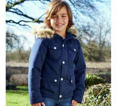Boys navy padded parka half price £10 at argos