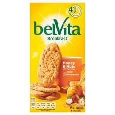 Belvita Breakfast Biscuits 6 x 50g All Varieties £1 @ Morrisons and ASDA
