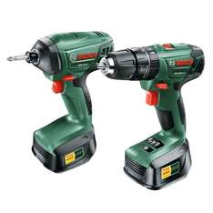 Bosch 18V 2.0Ah Li-Ion Drill & Driver Twin Pack 2 Batteries £67 (with code stack) @ B&Q diy.com