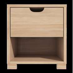 1 Drawer Bedside Table With Oak Finish £24.97 Del @ Furniture123