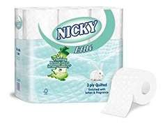 Nicky Elite 18 Roll 3-Ply Toilet Paper £3.95 Instore @ Savers