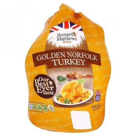 Bernard Matthews Golden Norfolk Frozen Turkey - 3.6 to 4.2kg £4.99 @ FarmFoods