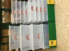 133L Clear storage boxes with lid - £10 @ Morrisons