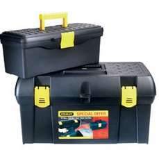 "Stanley 49cm (19"" approx) Tool Box Plus FREE 32cm (12.5"" approx) Storage/Tool Box £9.99 with Free Click and Collect at Robert Dyas or Ryman @ Robert Dyas"