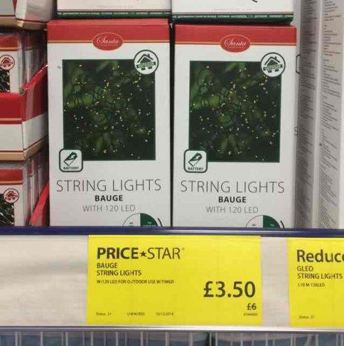 120 LED STRING LIGHTS WITH TIMER - £3.50 at JYSK