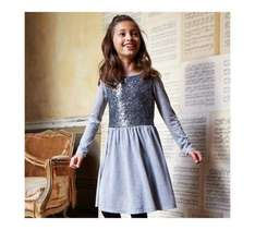 Girls Silver Sequin Dress - different sizes - £4 down from £14 @ Argos