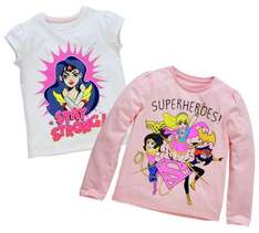 Girls DC Superheroes 2 Pack T-Shirts - Different sizes - £3 down from £9.99 @ Argos