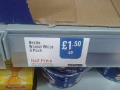 Walnut Whips 6 Pack £1.50 @ The Food Warehouse (Iceland)