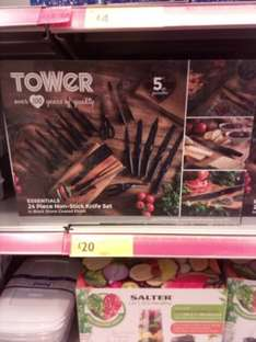 Tower 24 piece stone coated knife set £20 @ Morrisons - Ormskirk