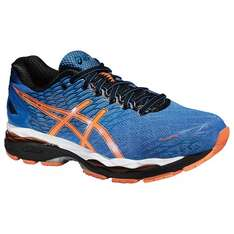 Asics Gel Nimbus 18 Men's Running Shoes, Electric Blue/Hot Orange/Black £87 @ John Lewis