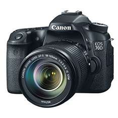 Canon EOS 70D Camera - Black (20.2MP, 18-135mm IS STM Lens) £699 @ Clearance Bargain Center - Stanley