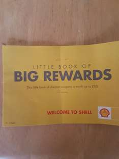 Spend over £30 at shell garage on Fuel on Receive a booklet with savings upto £50