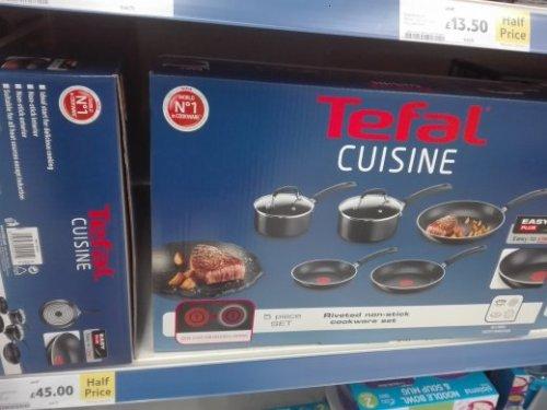 Tefal cuisine non-stick 5 piece set £45 @ Tesco Hove