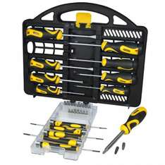 Stanley 34-Piece Professional Screwdriver Set with Carry Case - was £26.99 now £12.14 with code (Possible 5% cashback) @ Robert Dyas (Free C&C)